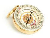 Starym stylu, złoty kompas — Zdjęcie stockowe
