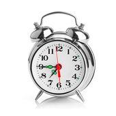 Alarm clock on white background — Stock Photo