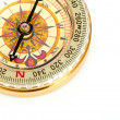 Stock Photo: Old styled, gold compass