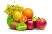Composition with fruits isolated on a white — Foto de Stock