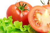 Tomato vegetable and lettuce salad — Stock Photo