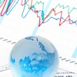 Crystal Global on Financial Chart — Stock Photo