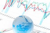 Crystal Global on Financial Chart — Stock Photo