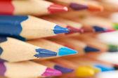 彩色的铅笔宏 — 图库照片