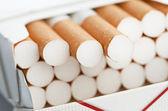Closeup of a pile of cigarettes — Stock Photo