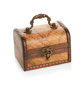Close wooden chest — Foto Stock