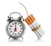 Smettere di fumare. isolato su sfondo bianco — Foto Stock