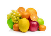 Composition with fruits isolated on a white — Stock Photo