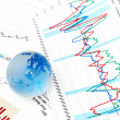 Crystal Global on Financial Chart — Stock Photo #16961301