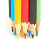 Kolorowe kredki makro — Zdjęcie stockowe