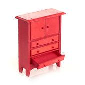 Vermelho do armário para crianças — Fotografia Stock