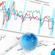 Crystal Global on Financial Chart — Stock Photo #17985843