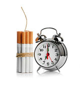 喫煙を止めます。白い背景で隔離 — ストック写真