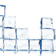 Ice cubes isolated on white — Stock Photo