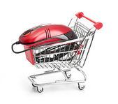 Online Internet Shopping. isolated on white background — Stock Photo