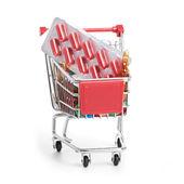 Carretilla de las compras con píldoras y medicina — Foto de Stock