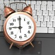 Shot of office work in relation with time efficiency. — Stock Photo