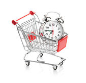 Buying time concept with clock — 图库照片
