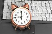 Skott av office arbeta i samband med tidseffektivitet. — Stockfoto
