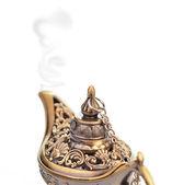 Aladdin magic lamp isolated on white — Stock Photo