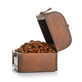 Coffee in chest — Stock Photo