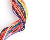 Multicolored computer cable — Stock Photo