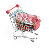 Shopping trolley with pills and medicine — Stockfoto