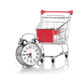 Buying time concept with clock — Foto Stock
