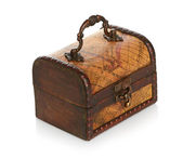 Close wooden chest — Stock Photo