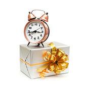 Eine retro-Uhr mit präsentiert — Stockfoto