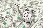 时间-钱。经营理念 — 图库照片