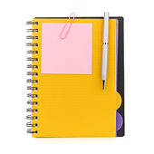 Notebook and pen — Stok fotoğraf