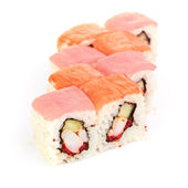 Sushi, isolated on white. — Stock Photo