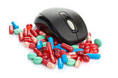Mouse and pills — Stock Photo
