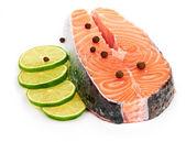 Salmon and lime — Stock Photo