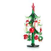 白い背景で隔離のクリスマスの装飾 — ストック写真