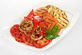 Delicious grilled vegetable — Stock Photo