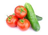 Ripe vegetables isolated on white background — Stock Photo