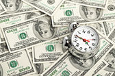 Zaman - para. iş kavramı — Stok fotoğraf