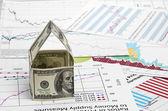 Ev dolar. grafik arka planı üzerinde — Stok fotoğraf