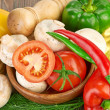 Fresh vegetables and mushrooms — Stock Photo #29688487