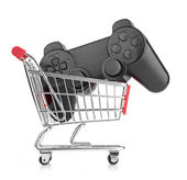 Video game controller in trolley — Stock Photo