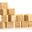 Brown cane sugar cubes — Stock Photo