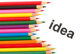 разноцветные карандаши, изолированные на белом фоне — Стоковое фото