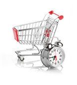 Comprando il concetto di tempo con orologio — Foto Stock