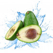 Avocado with water splash — Stock Photo #30506471