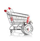 Compra el concepto de tiempo con el reloj — Foto de Stock