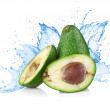 Avocado with water splash — Stock Photo #30792335
