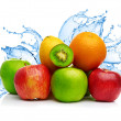 Fruit mix in water splash — Stock Photo #30798857