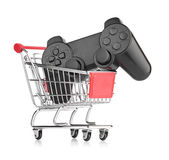 Kontroler gier wideo w wózek — Zdjęcie stockowe
